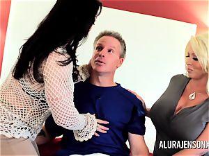 milf detective Alura Jenson 3some fuck-a-thon