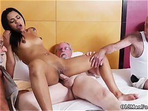 Jane banged by senior boy adult cinema Staycation with a latin beauty