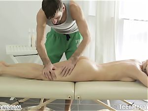 Unique Russian massage with foray