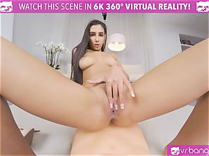 VRBangers warm honey Gianna Dior humping And throating A large Rubber schlong
