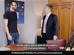 pornography ACADEMIE Lana Rhoades likes humping French sausage