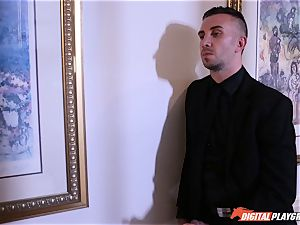 striking and facializing Janice Griffith all over the mansion