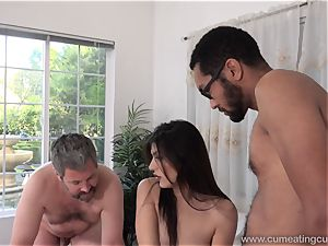 Audrey Royal and hubby love humungous black man meat inside Her