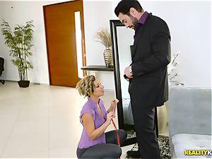 horny tailor Jada Stevens blows off Charles