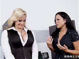 Generous manager bangs molten assistant Sarah Vandella