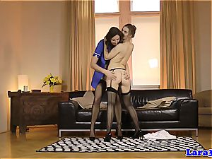Lara latex and Alexis Crystal pamper on some succulent cootchie