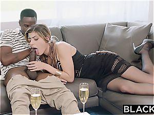 Arab gal Audrey Charlize loves the taste of a big black cock