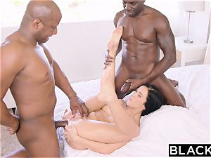 BLACKED red-hot Megan Rain Gets DP'd By Her Sugar parent and His acquaintance