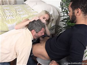 Cadence Lux Makes muff spouse gobbles guys spunk