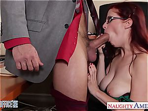 red-haired Penny the fresh office cockslut