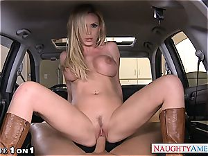 horny Nikki Benz in point of view getting her cougar labia romped