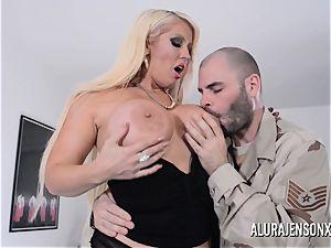 big-titted blond Alura Jenson loves a boy in uniform