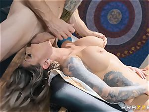 Karma RX greased up and well-prepped to poke
