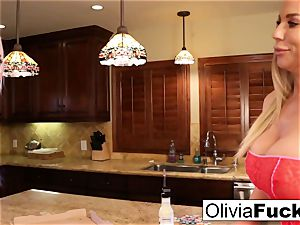 Olivia rectally breaks late pizza delivery female Leya!