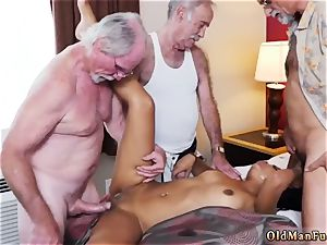 daddy pounds colleague playfellow s sons-in-law lady and senior couple tempt youthful Staycation with a