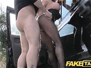 fake taxi Street female screws cabbie for cash