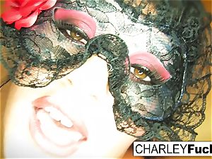 Charley wears some spectacular undergarments and tights