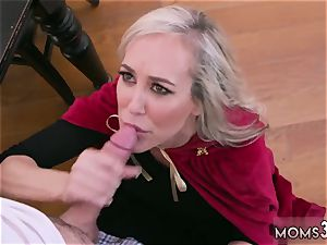 Mature mom very first time Halloween special With A three way