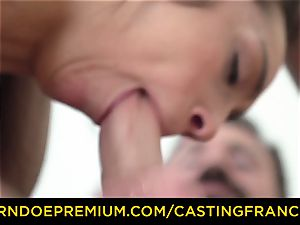 casting FRANCAIS - amateur cutie torn up and cum frosted