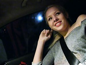 adorable Lola Taylor gets appetizing pulverizing on the back seat