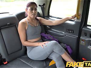 fake taxi Sahara gets a rigid man rod workout