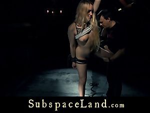 sub dame ash-blonde pleasured and disciplined in subjugation
