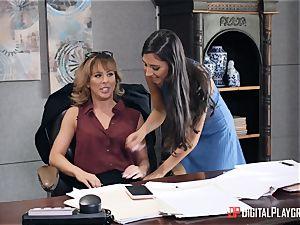 milf Cherie Deville gets her puss eaten in her office by Gianna Dior