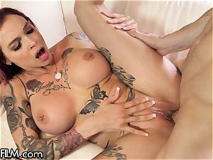 DevilsFilm Anna Bell Peaks splatter ejaculates from enjoying rod