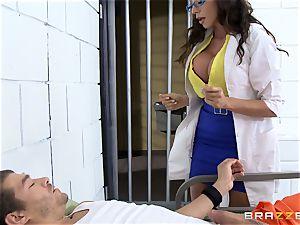 splendid prison medic Ariella Ferrera jerks off her patient