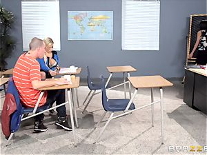 Bibi Noel and Anissa Kate pulverize in the classroom