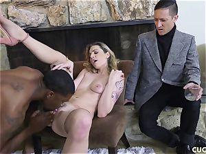 ebony boy screws his boss slutty wifey Dahlia Sky