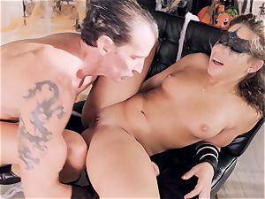 Abella Danger gets screwed by a naughty rigid gladiator
