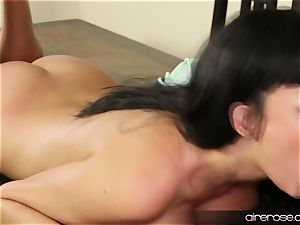 Airerose brown-haired stunner Anissa Kate plows Some youthful stud