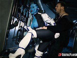 Space porno parody with super-steamy alien Rachel Starr