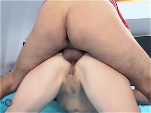 HITZEFREI German mature sloppy Tina has her caboose fucked