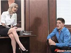 Kleio Valentien pounded in the office
