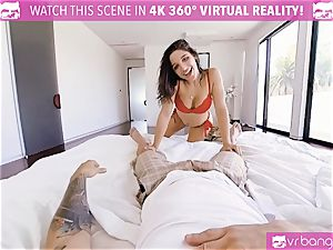 VR porn - busty Abella Danger audition sofa get horny