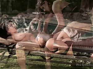 Aspen Rae strikes Darcie Dolces spot and makes her orgasm