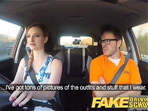 faux Driving college Nerdy ginger-haired nubile schoolgirl