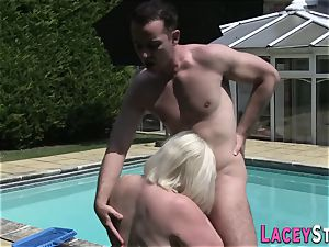grandma pulverizes the Pool Cleaner really firm