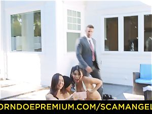 SCAM ANGELS - warm Melissa Moore banged in super-naughty 4 way