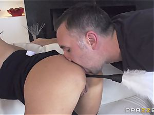 Maid Anissa Kate getting her delicious rump nailed by a immense pecker
