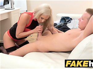 dame Agent cum thirsty super-naughty agent gets nailed