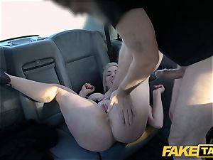 fake taxi blondie cougar Victoria Summers humped in a taxi