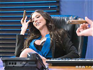 caboose fucking milf Ariella Ferrera in the office