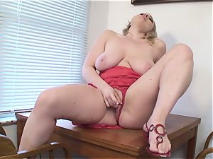 huge-chested wife Vicky Vixen toys vag