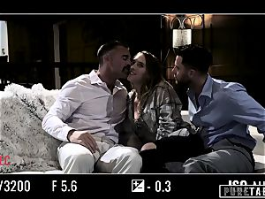 unspoiled TABOO babe Tricked Into vengeance threeway with Strangers