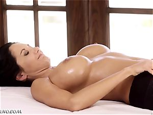 Ava Addams and Cherie Deville - humungous boob mummy all girl