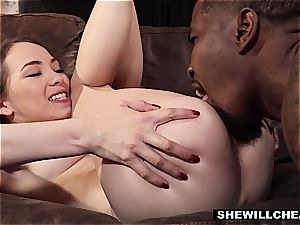 cheating wifey gets smashed by a monster dark-hued bone