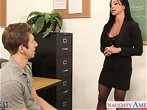 mouth-watering lecturer beans Jade pummeled in the classroom